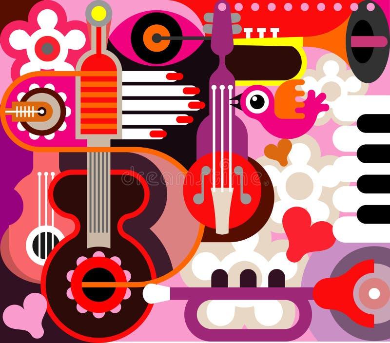 Abstrakcjonistyczny Muzyczny Tło royalty ilustracja