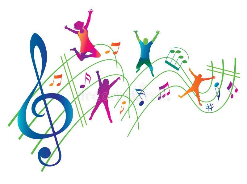 Abstrakcjonistyczny Muzyczny tło. royalty ilustracja