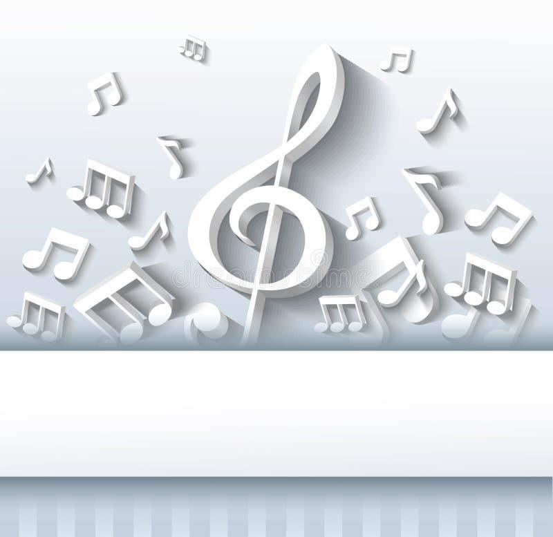 Abstrakcjonistyczny muzyczny tło. ilustracja wektor