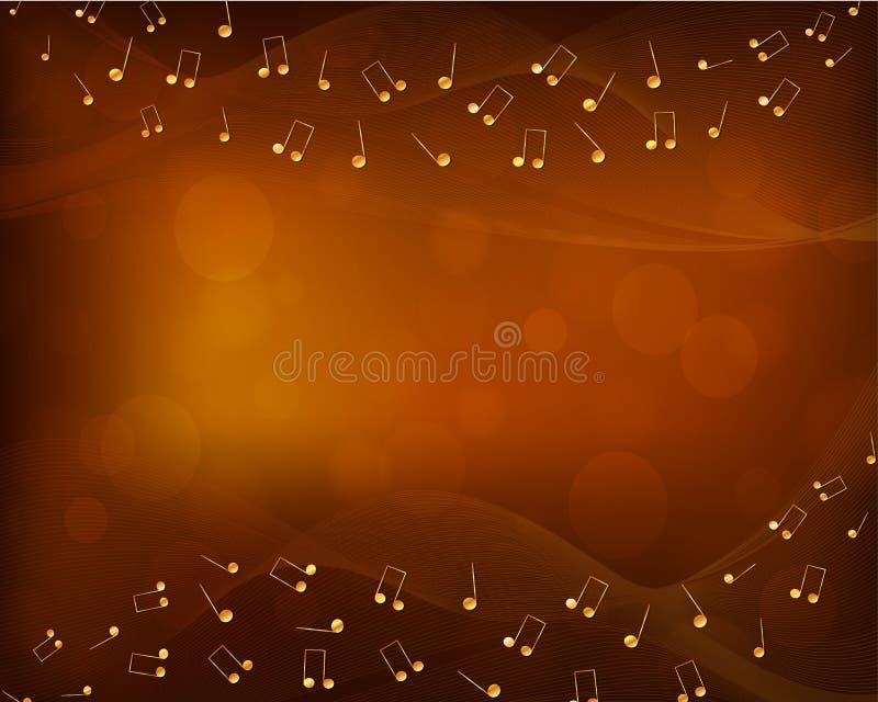 Abstrakcjonistyczny muzyczny tło z dekoracją royalty ilustracja