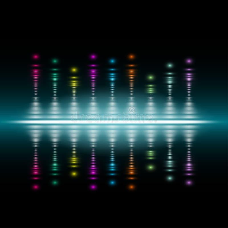 Abstrakcjonistyczny muzyczny tomowy wyrównywacza pojęcia tło royalty ilustracja
