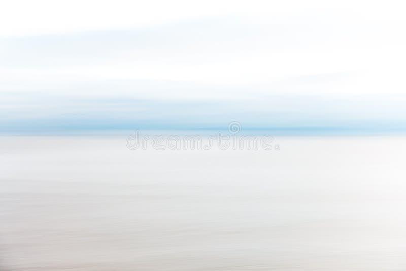 Abstrakcjonistyczny Nabrzeżny ruch plamy niebo i morze fotografia royalty free