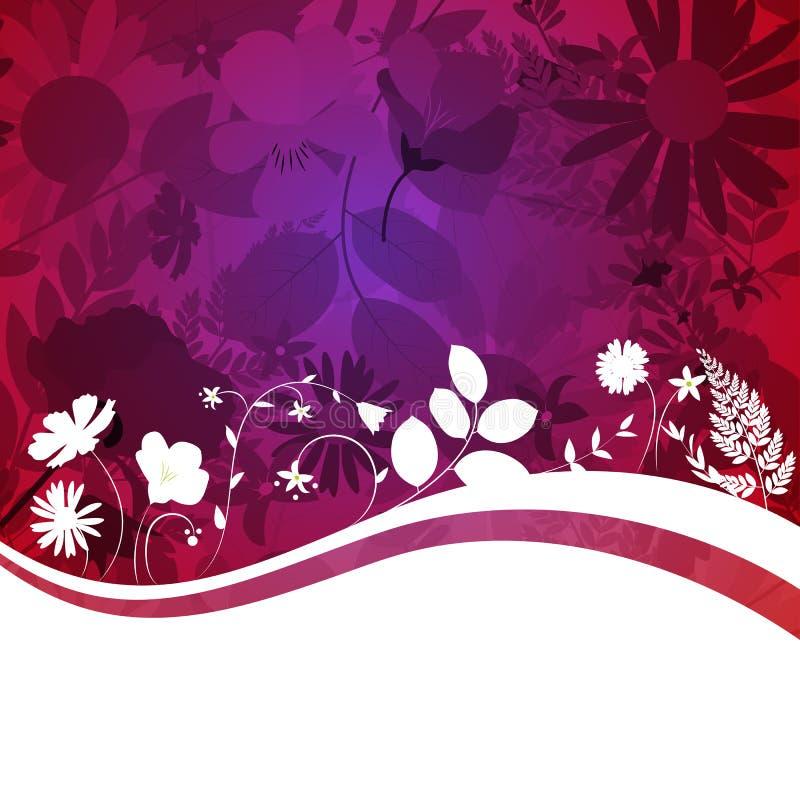 Abstrakcjonistyczny Naturalnej wiosny tło z kwiatami i liśćmi royalty ilustracja