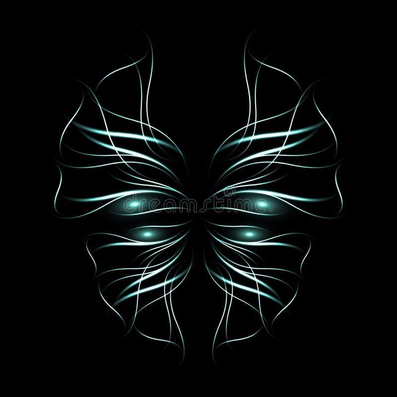 Abstrakcjonistyczny neonowy motyl royalty ilustracja