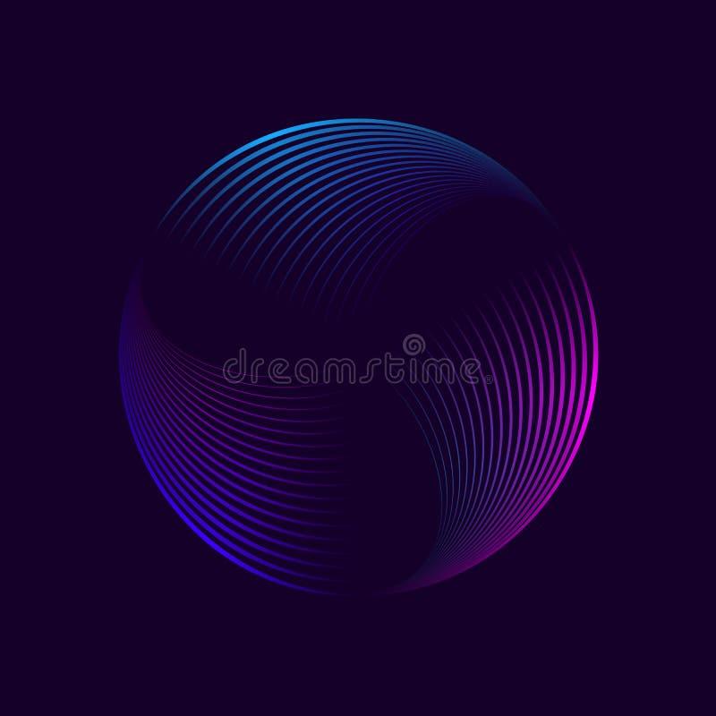 Abstrakcjonistyczny neonowy okrąg zdjęcie royalty free