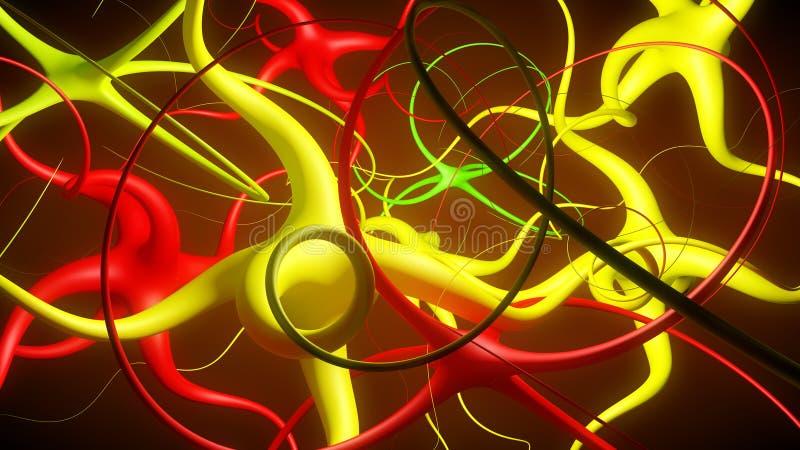 Abstrakcjonistyczny neuronu związek ilustracji