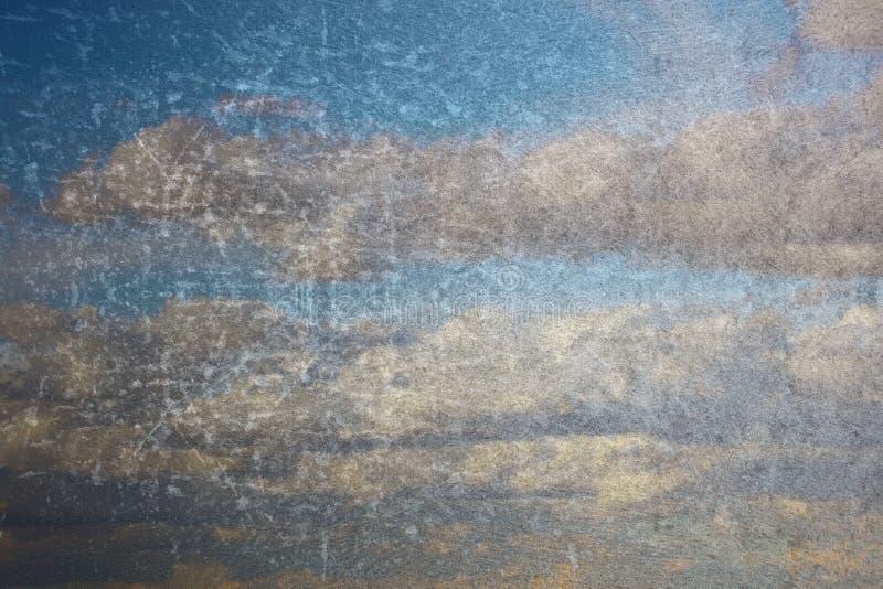 Abstrakcjonistyczny niebo jak obraz na starej ścianie zdjęcie stock