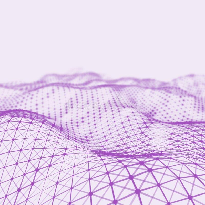 Abstrakcjonistyczny niski poli- tło Plexus poligonalny tło Plexus niski poli- krajobrazowy tło 3D wireframe plexus zdjęcie stock