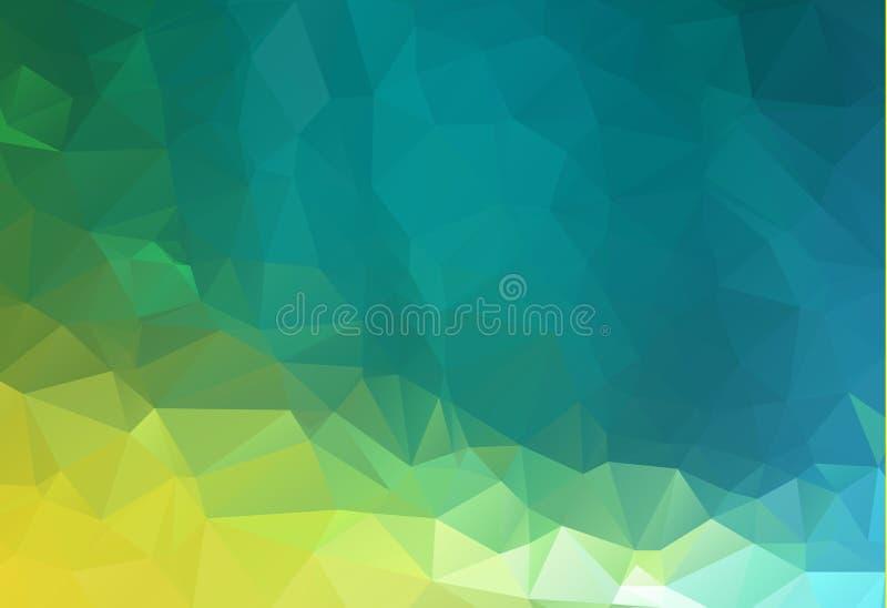 Abstrakcjonistyczny niski poli- tło trójboki w zielonych kolorach Trójgraniasty abstrakcjonistyczny tło Modna wektorowa ilustracj royalty ilustracja