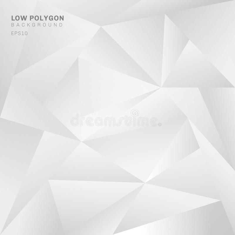 Abstrakcjonistyczny niski wieloboka bielu tło Geometrycznych trójboków deseniowy tło ilustracji