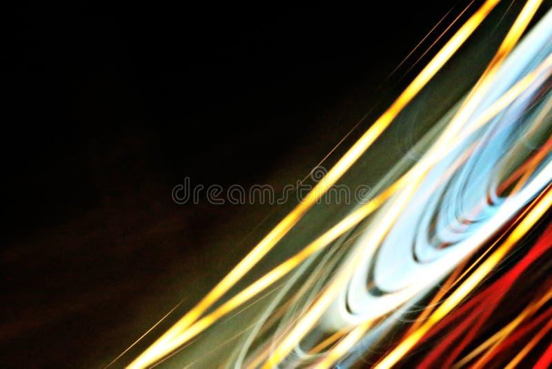 Abstrakcjonistyczny nocy światła tło w drodze zdjęcie royalty free