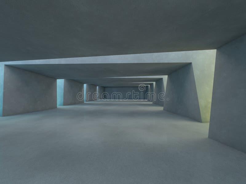 Abstrakcjonistyczny nowożytny architektury tło świadczenia 3 d royalty ilustracja