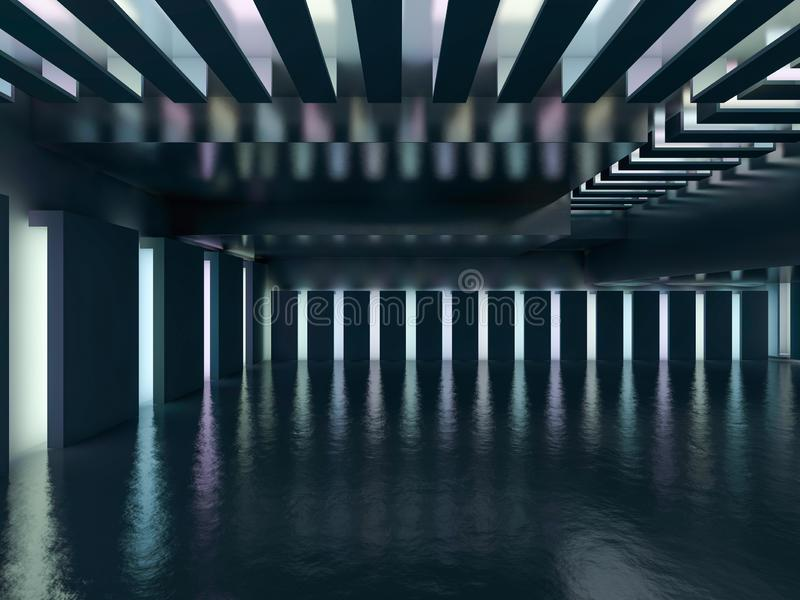 Abstrakcjonistyczny nowożytny architektury tło świadczenia 3 d ilustracja wektor