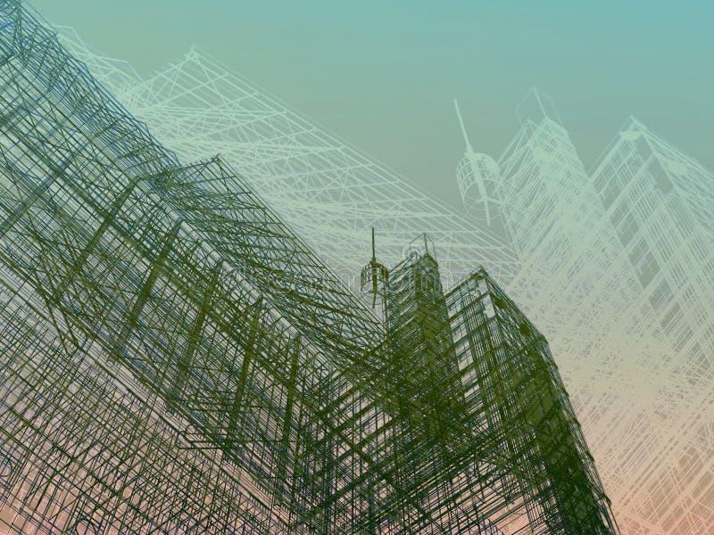 Abstrakcjonistyczny nowożytny architektury tło ilustracji
