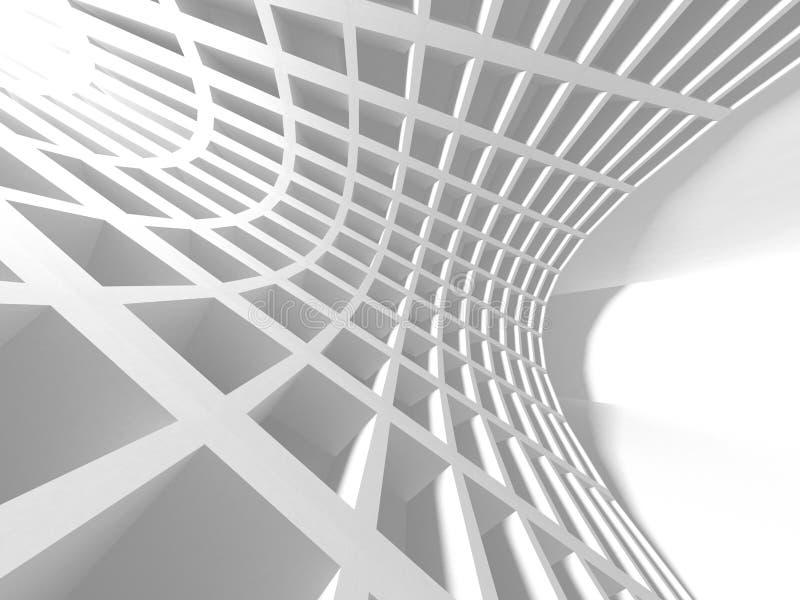 Abstrakcjonistyczny Nowożytny Biały architektury tło ilustracji