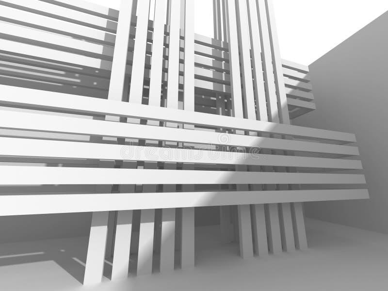 Abstrakcjonistyczny Nowożytny Biały architektury tło royalty ilustracja