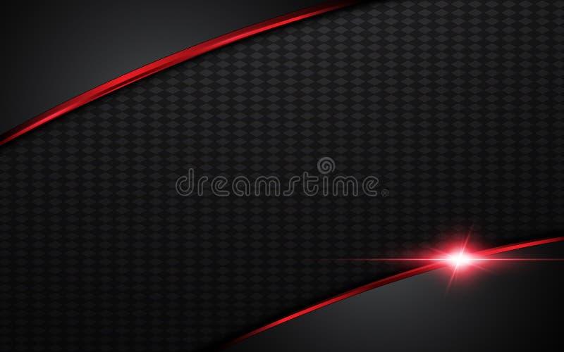 Abstrakcjonistyczny nowożytny czerwieni srebra stalowej ramy układu projekta szablonu tło ilustracji