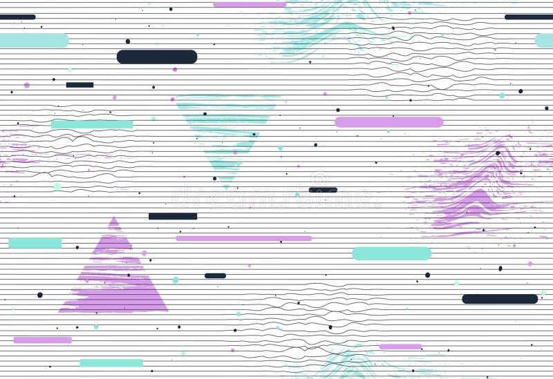 Abstrakcjonistyczny nowożytny geometryczny usterka wzór bezszwowy royalty ilustracja