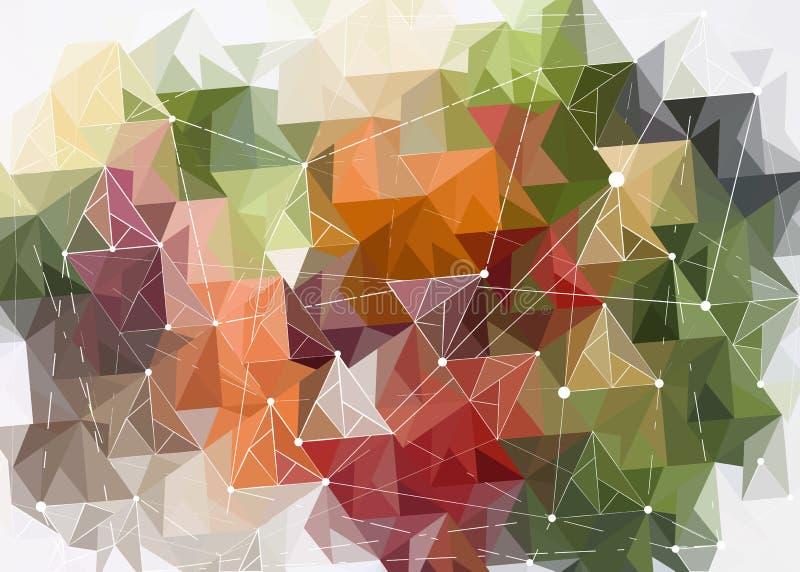 Abstrakcjonistyczny nowożytny hud tło barwioni trójboki ilustracji