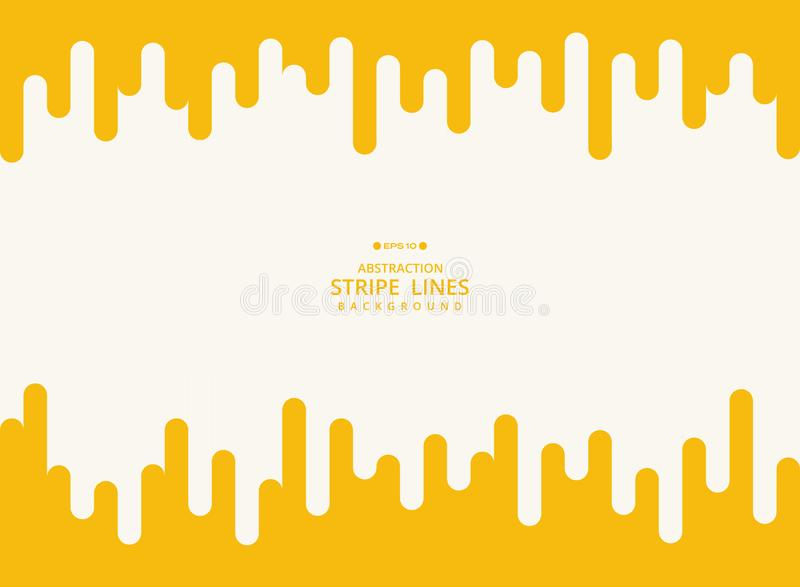 Abstrakcjonistyczny nowożytny tło żółtej lampas linii geometryczny wzór ilustracji