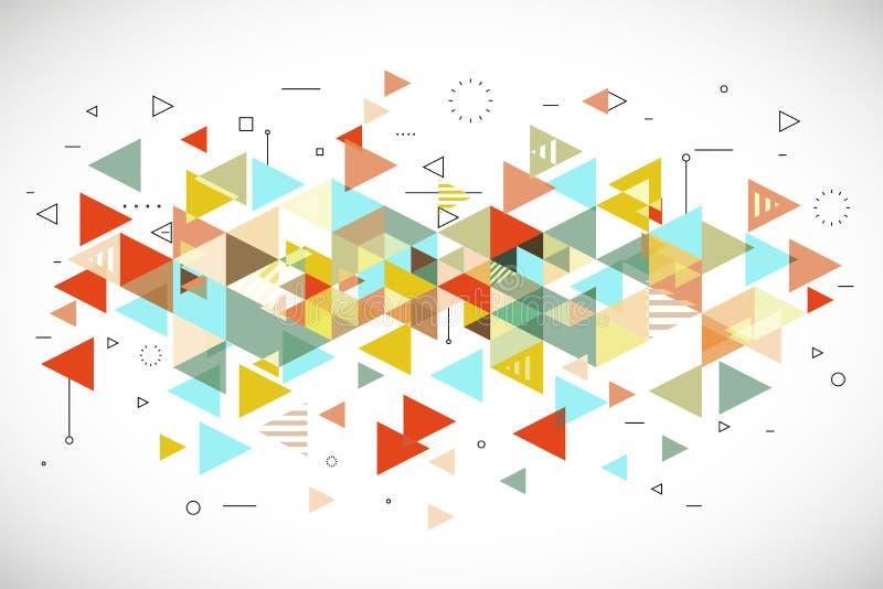 Abstrakcjonistyczny nowożytny trójboka tło ilustracja wektor