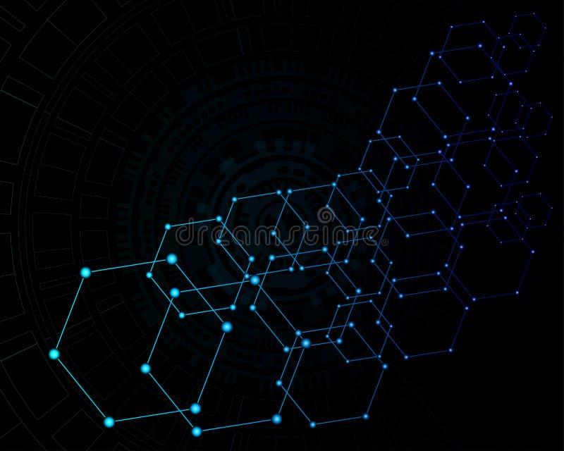 Abstrakcjonistyczny nowoczesna technologia jako t?o ilustracji