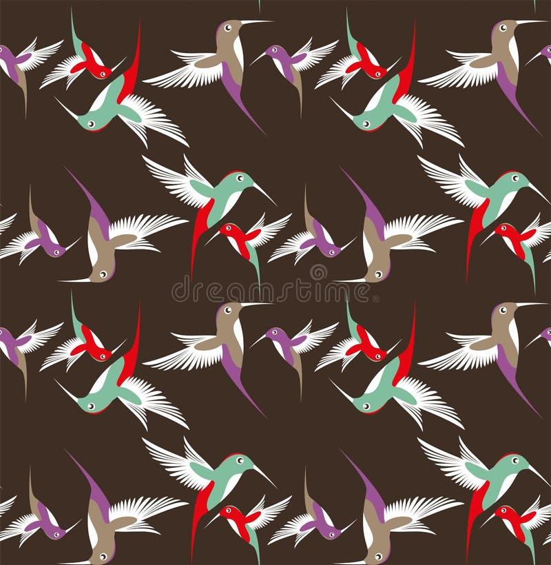 Abstrakcjonistyczny nucić ptak w locie ilustracja wektor