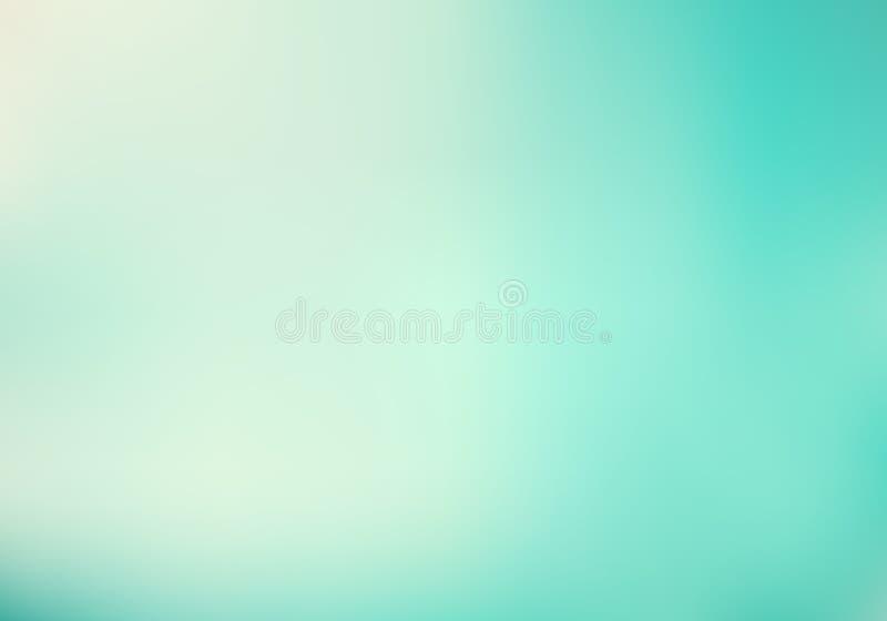 Abstrakcjonistyczny oświetleniowego skutka pastelu zieleni mennicy koloru gradientowy turkusowy tło ilustracja wektor