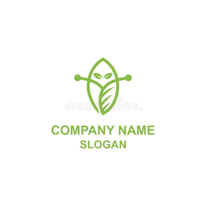 Abstrakcjonistyczny obcy liścia logo ilustracja wektor