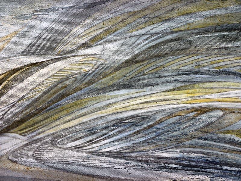Abstrakcjonistyczny obraz handmade Nadrealizm i mistycyzm tło abstrakcjonistyczny obraz ilustracja wektor