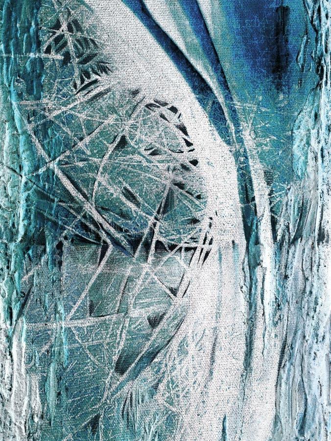 Abstrakcjonistyczny obraz handmade Nadrealizm i mistycyzm tło abstrakcjonistyczny obraz ilustracji