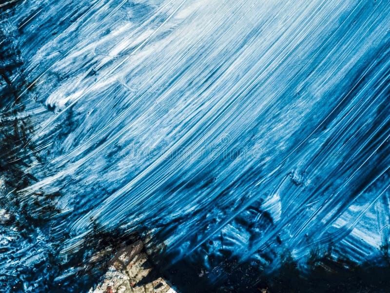 Abstrakcjonistyczny obraz handmade Nadrealizm i mistycyzm tło abstrakcjonistyczny obraz royalty ilustracja
