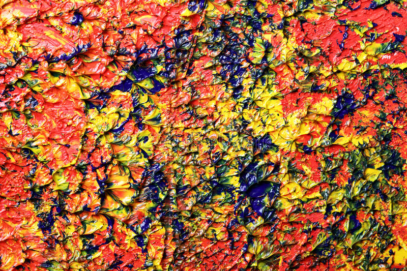 abstrakcjonistyczny obraz olejny zdjęcia royalty free