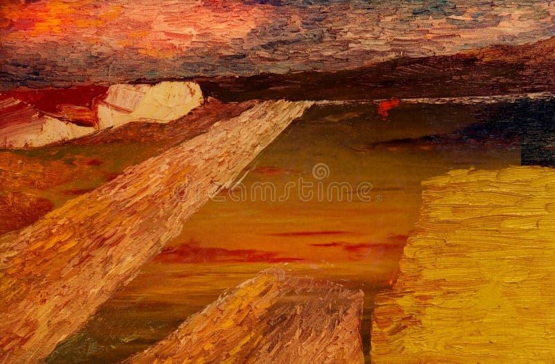 Abstrakcjonistyczny obraz olejny obraz stock