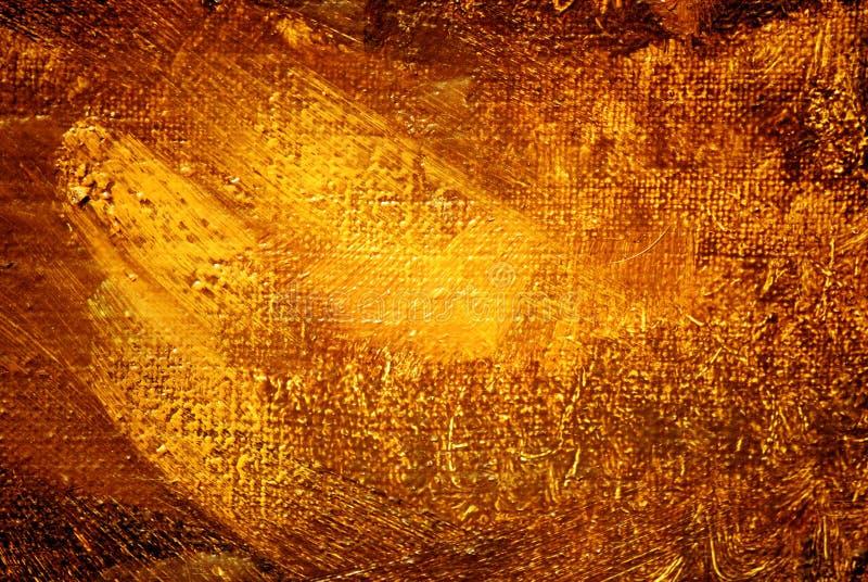 Abstrakcjonistyczny obraz, złocista luminescencja, tło ilustracji