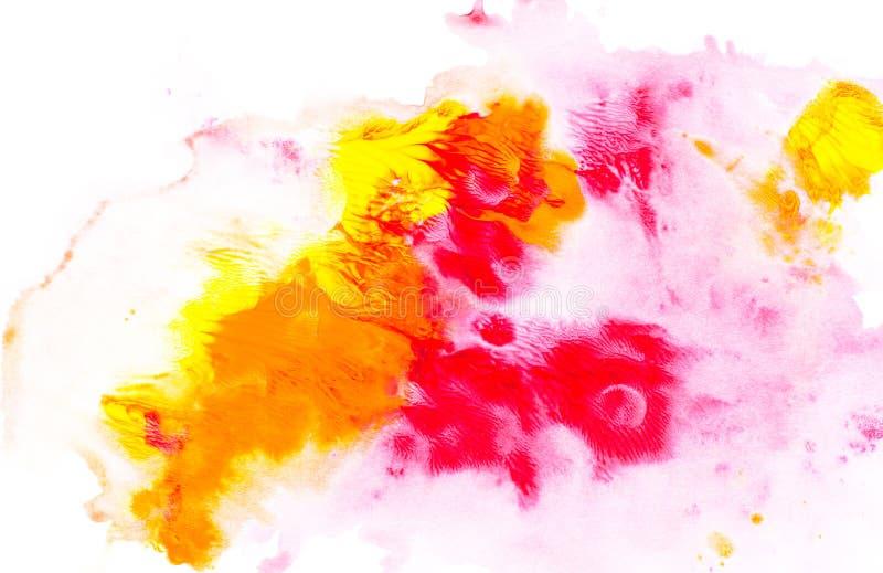 Abstrakcjonistyczny obraz z jaskrawą kolorową akwareli farbą zaplamia ilustracja wektor