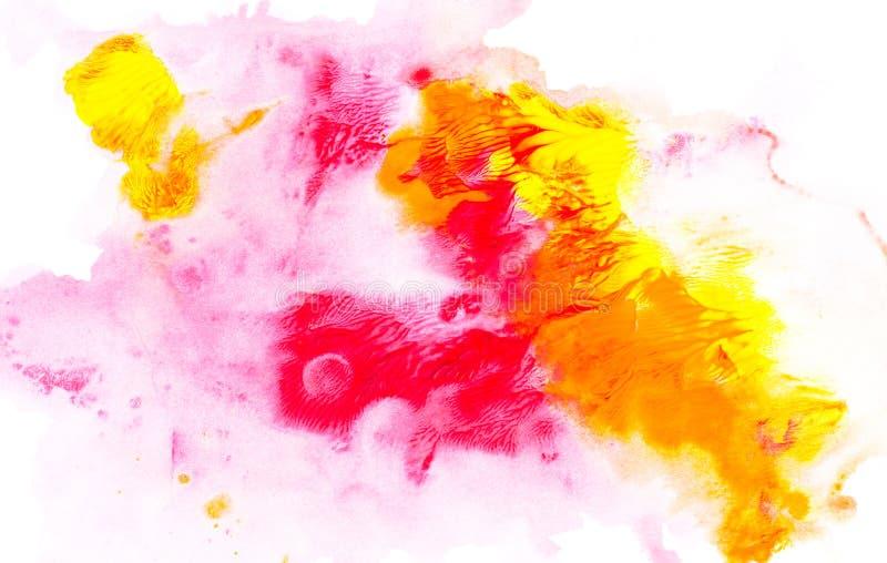 Abstrakcjonistyczny obraz z jaskrawymi kolorowymi farba punktami ilustracja wektor
