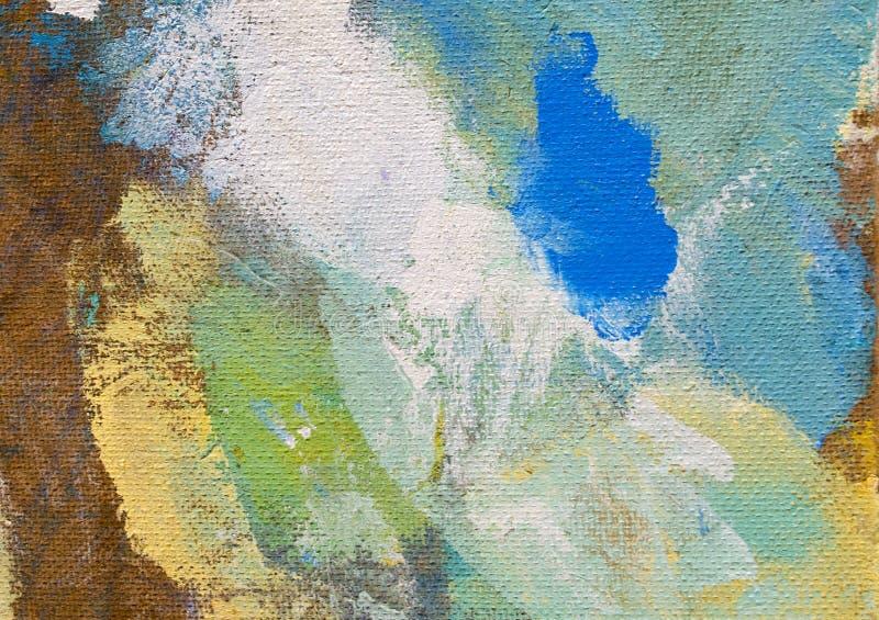 Abstrakcjonistyczny obraz z rozmytą i pobrudzoną strukturą Kartonowy tekstury tło z copyspace dla projekta Textured kolorowy bac royalty ilustracja