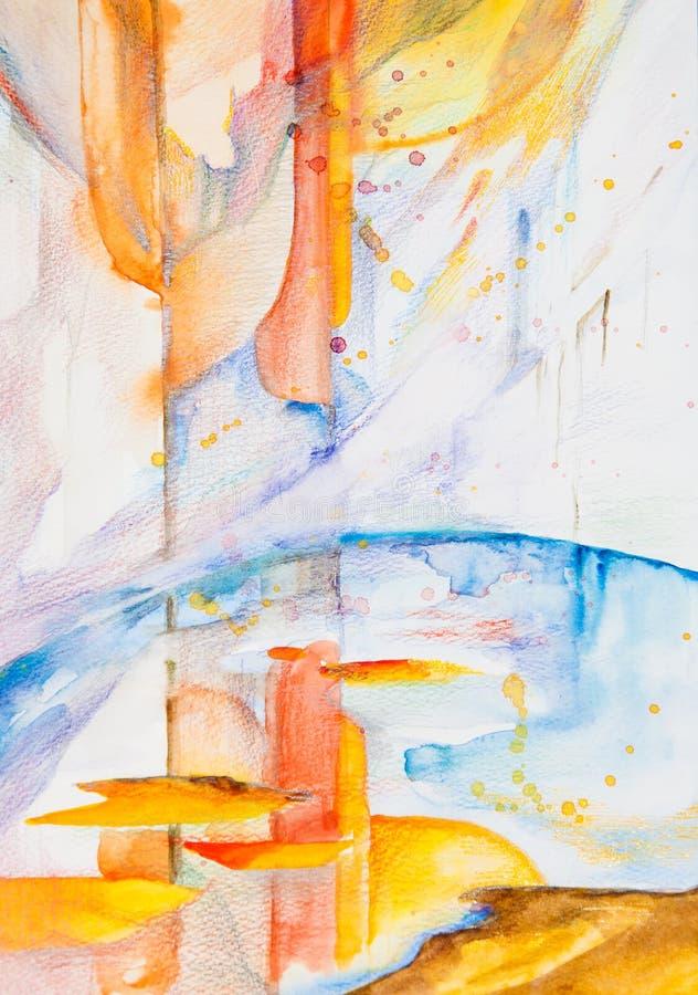 Abstrakcjonistyczny obrazek ilustracja wektor