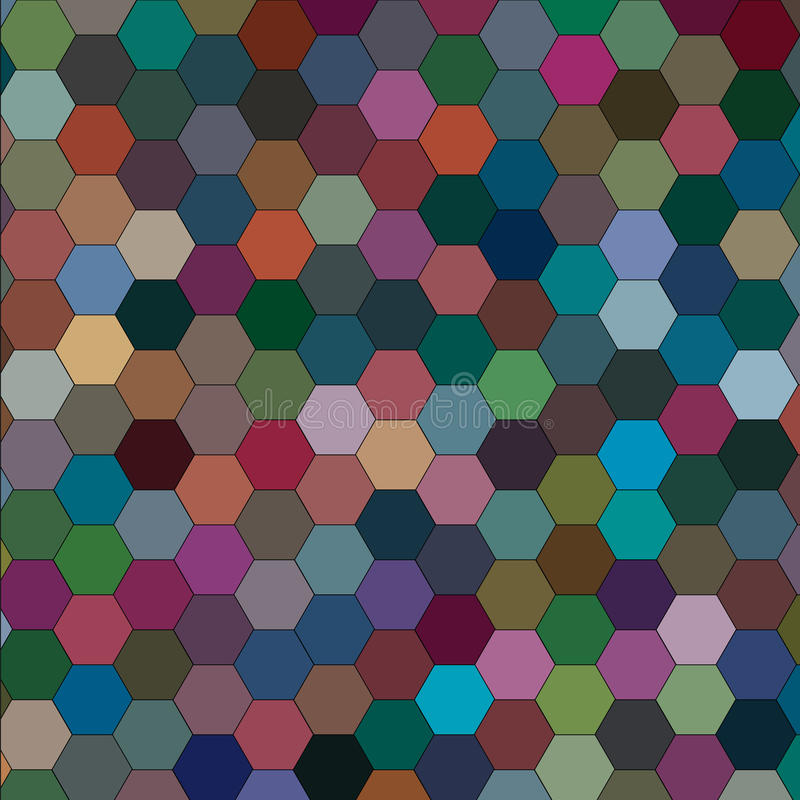 Abstrakcjonistyczny obrazek z sześciokątami różni kolory raster royalty ilustracja