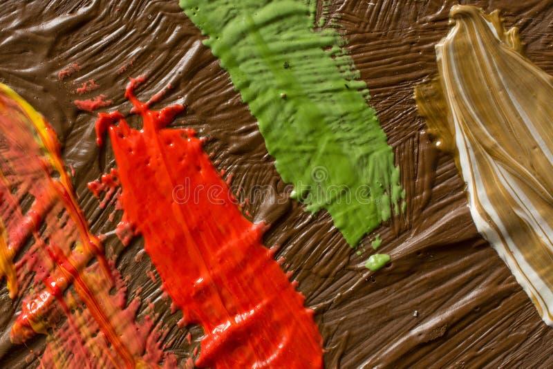 Abstrakcjonistyczny obrazu t?o Tapeta dla malarz farby lub wystawy fabryki obrazy stock