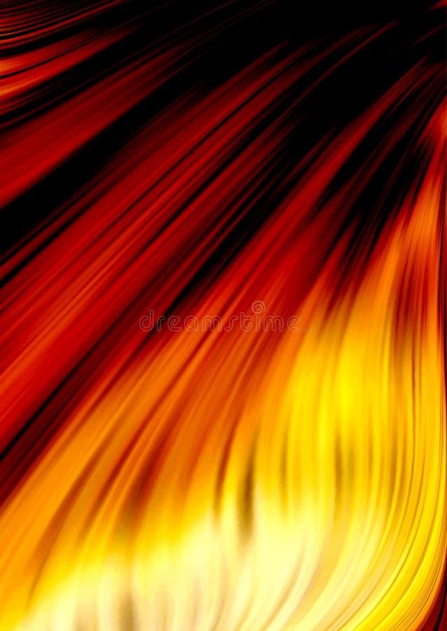 abstrakcjonistyczny ogień royalty ilustracja