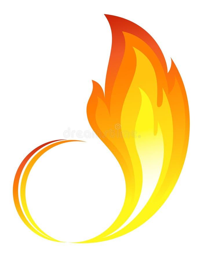 abstrakcjonistyczny ogień płonie ikonę royalty ilustracja