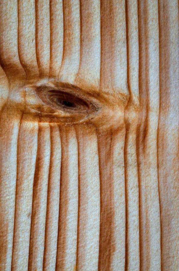 Abstrakcjonistyczny oko na drewnianej desce fotografia stock