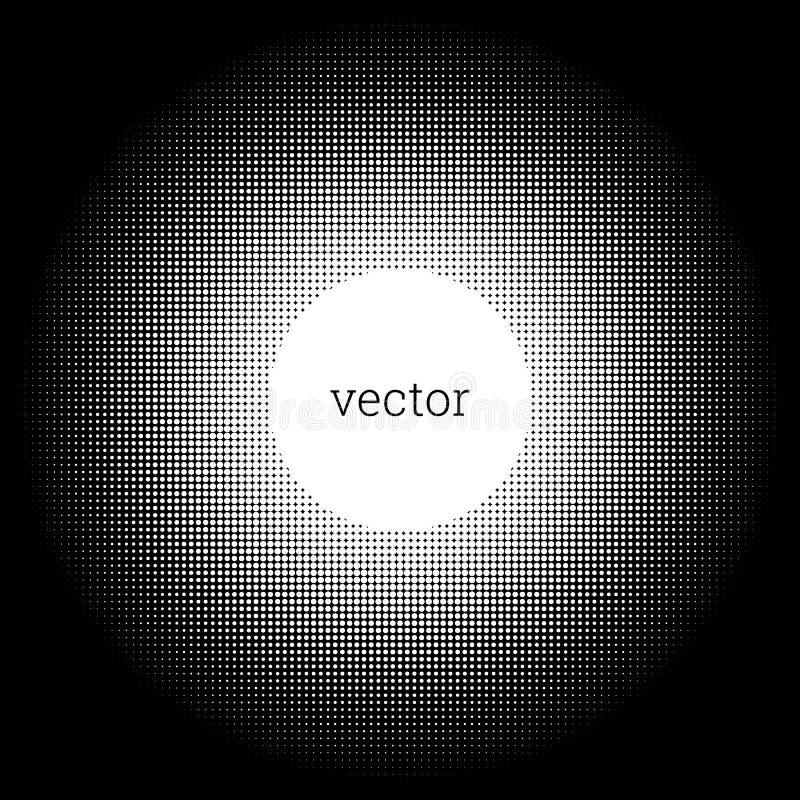 Abstrakcjonistyczny okrąg kropki Halftone projekta element obraz stock