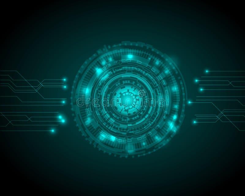 Abstrakcjonistyczny okrąg technologii cyfrowej tło, futurystyczny struktura elementów pojęcia tła projekt cyfrowy biznes, wektor ilustracja wektor