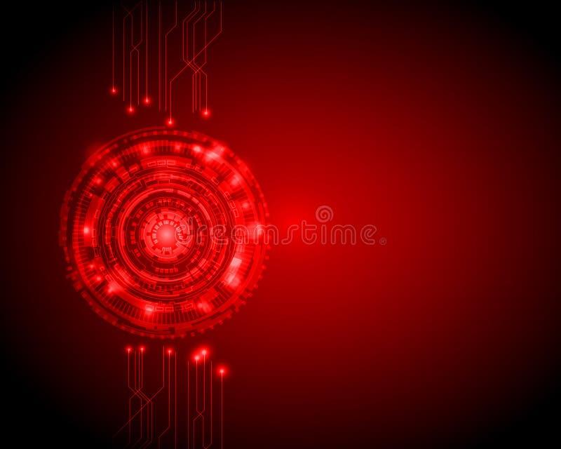 Abstrakcjonistyczny okrąg technologii cyfrowej tło z plecy przestrzenią, futurystyczny struktura elementów pojęcia tła projekt cy royalty ilustracja