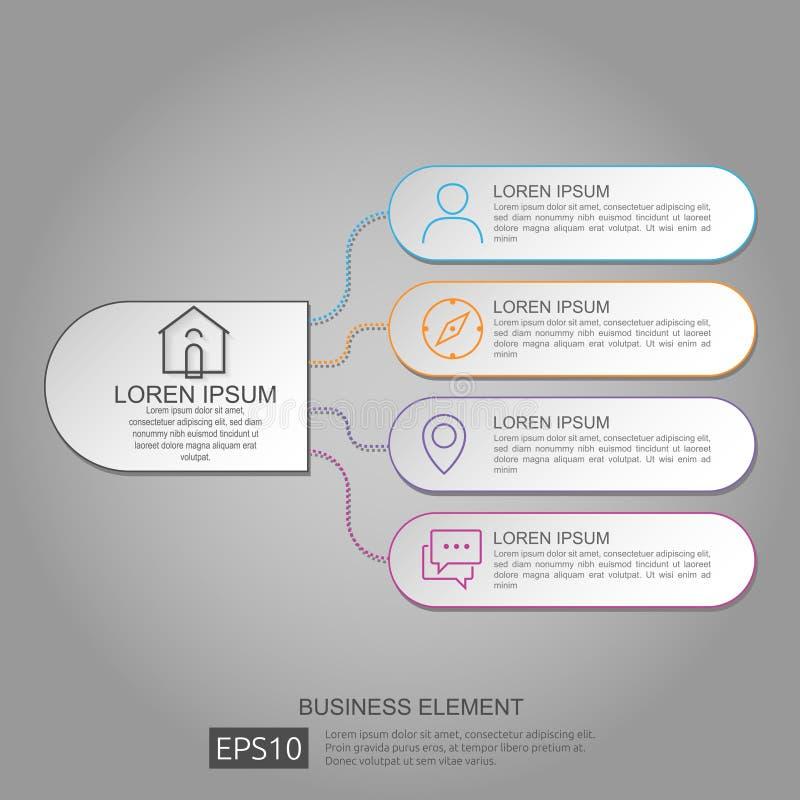 abstrakcjonistyczny okręgu baru element dla biznesowego pojęcia infographic Szablon dla obieg układu, jeździć na rowerze diagram, ilustracja wektor