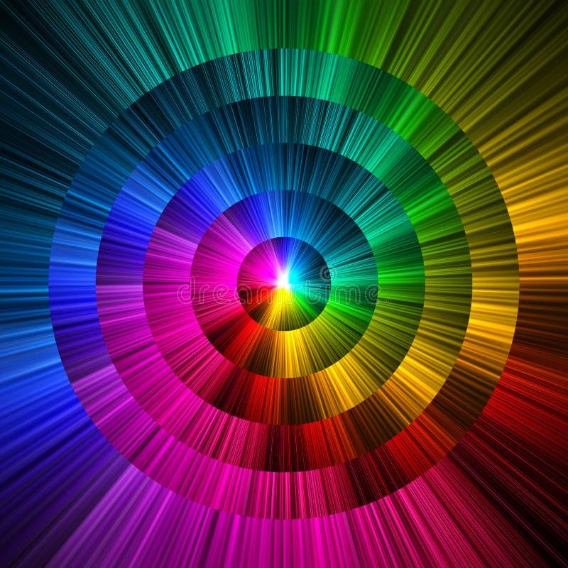 Abstrakcjonistyczny okręgu graniastosłup barwi tło ilustracja wektor