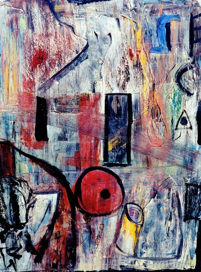 abstrakcjonistyczny olej ilustracja wektor